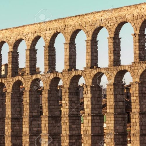 69958483 photo of ancient roman aqueduct in segovia spain