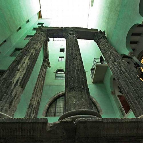 Spain Barcelona Roman Columns L
